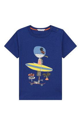 Детский хлопковая футболка MARC JACOBS (THE) синего цвета, арт. W05252/2A-3A | Фото 1
