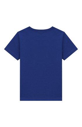 Детский хлопковая футболка MARC JACOBS (THE) синего цвета, арт. W05252/2A-3A | Фото 2