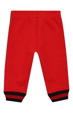 Детские хлопковые джоггеры с лампасами GUCCI красного цвета, арт. 497807/X9L52 | Фото 2