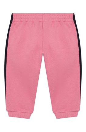 Детские хлопковые джоггеры GUCCI розового цвета, арт. 518783/X9W10 | Фото 2