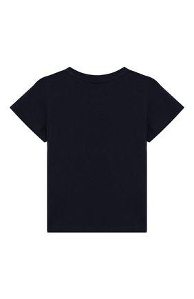 Детский хлопковая футболка GUCCI синего цвета, арт. 526910/X3086 | Фото 2