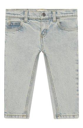 Детские джинсы с декоративными потертостями GUCCI голубого цвета, арт. 540362/XDAC8 | Фото 1
