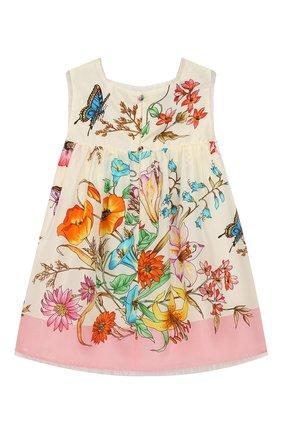Женский шелковое платье GUCCI разноцветного цвета, арт. 540652/ZAAVY | Фото 2