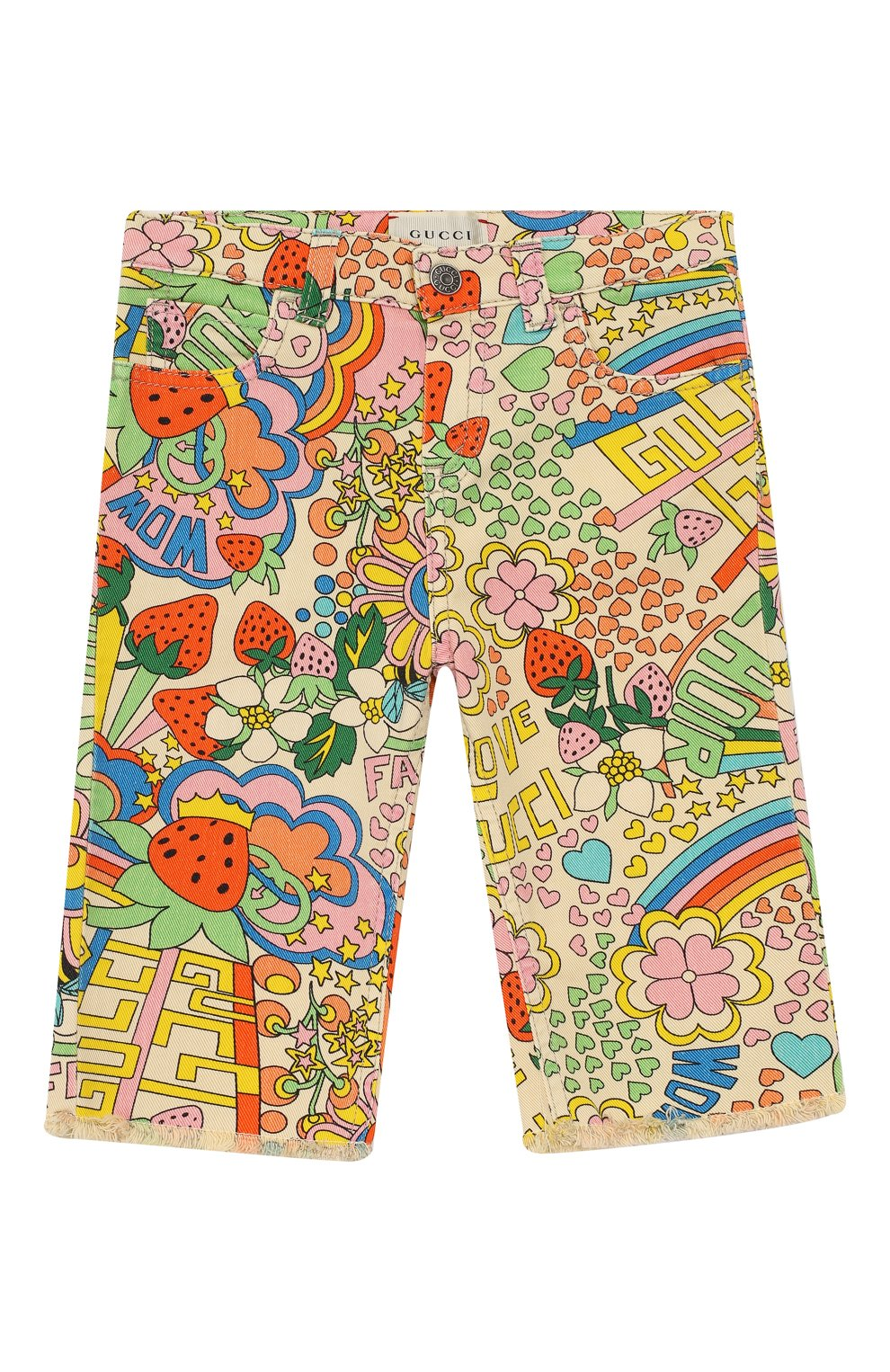 Детские джинсы прямого кроя GUCCI разноцветного цвета, арт. 552352/XDAGM | Фото 1