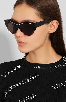 Женские солнцезащитные очки BALENCIAGA черного цвета, арт. BB0004 001 | Фото 2