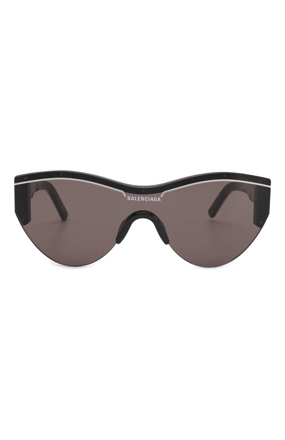 Женские солнцезащитные очки BALENCIAGA черного цвета, арт. BB0004 001 | Фото 3