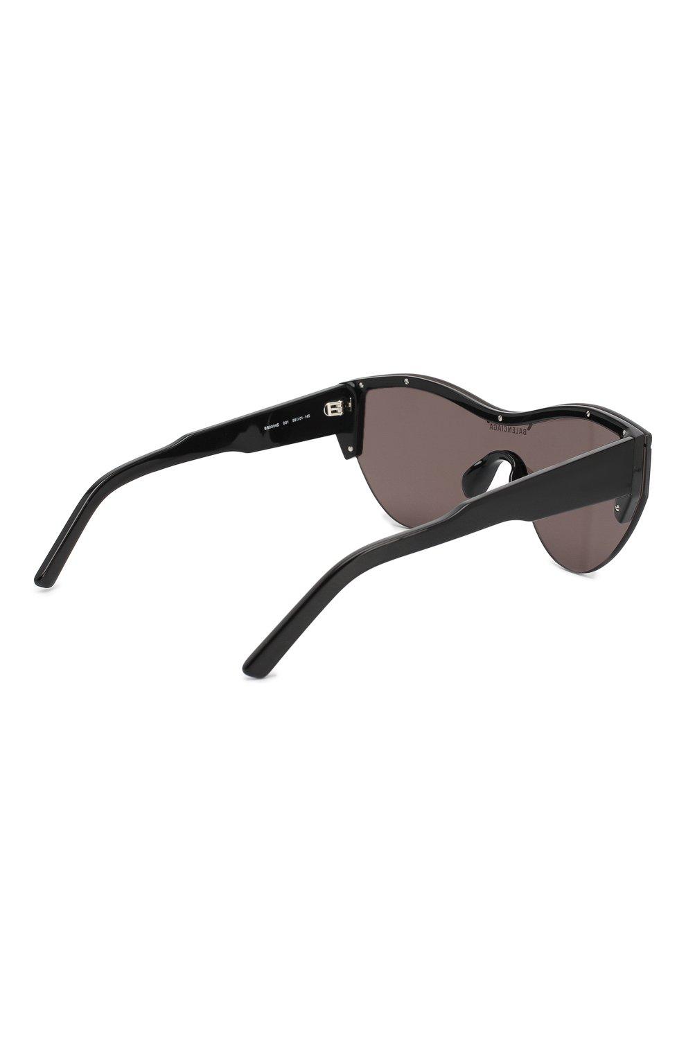 Женские солнцезащитные очки BALENCIAGA черного цвета, арт. BB0004 001 | Фото 4