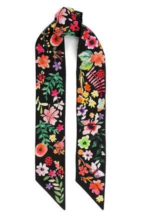 Шелковый шарф-бандо Metropolis  | Фото №1