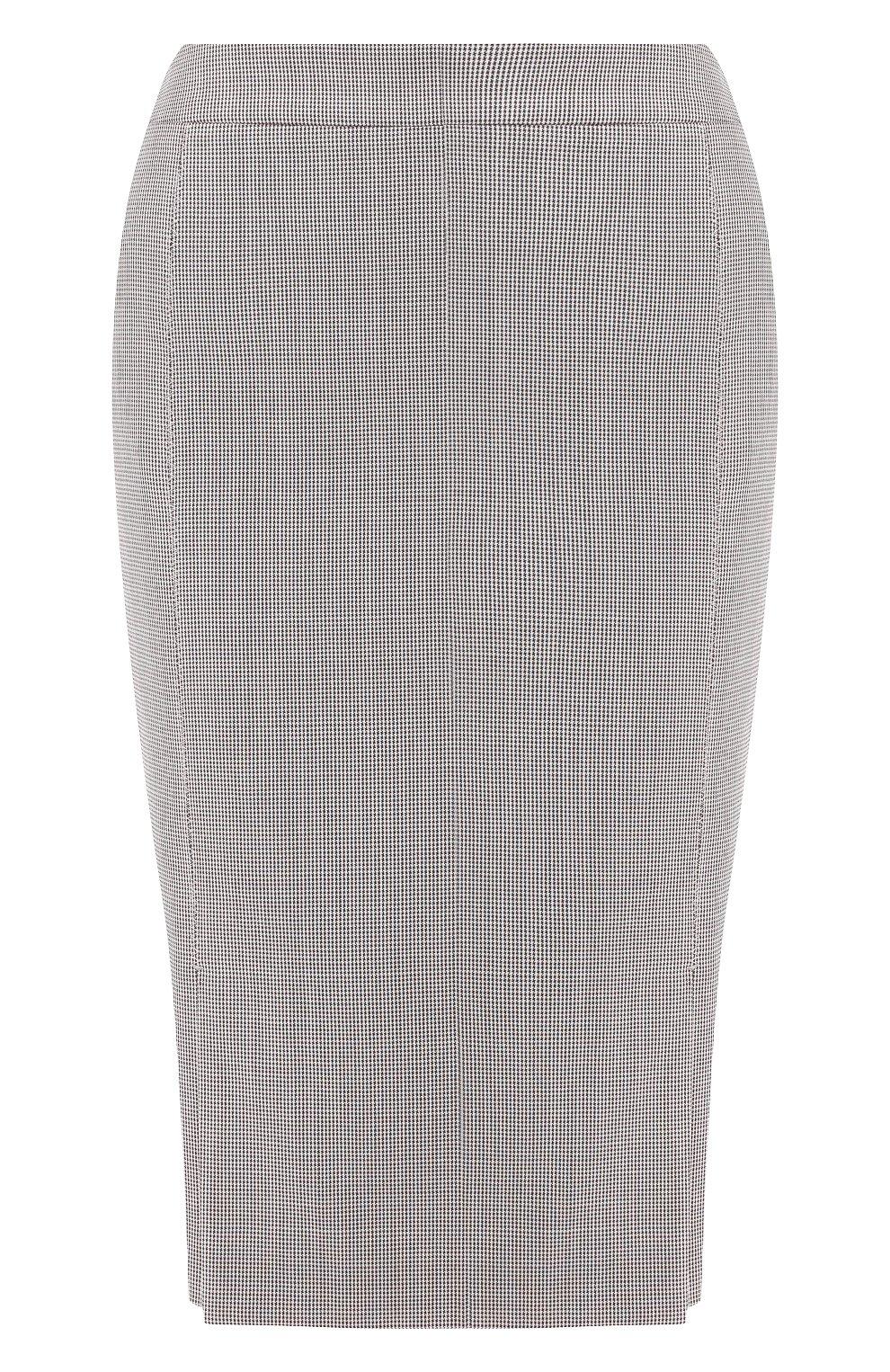 Женская шерстяная юбка BOSS разноцветного цвета, арт. 50404821 | Фото 1