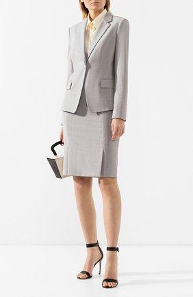 Женская шерстяная юбка BOSS разноцветного цвета, арт. 50404821 | Фото 2