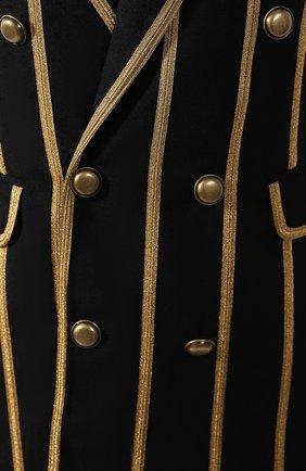 Шерстяной жакет Saint Laurent черный | Фото №5