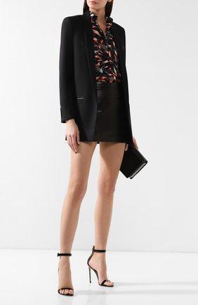 Женский шерстяной жакет SAINT LAURENT черного цвета, арт. 552517/Y221W | Фото 2