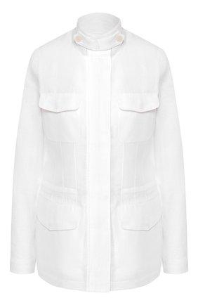Женская льняная куртка LORO PIANA белого цвета, арт. FAF6362 | Фото 1