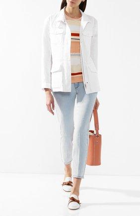 Женская льняная куртка LORO PIANA белого цвета, арт. FAF6362 | Фото 2