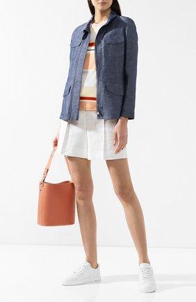 Куртка из смеси льна и хлопка | Фото №2