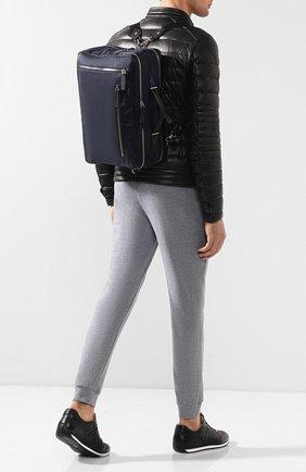 Мужской текстильный рюкзак TOD'S синего цвета, арт. XDMTECP0400JTZ   Фото 2