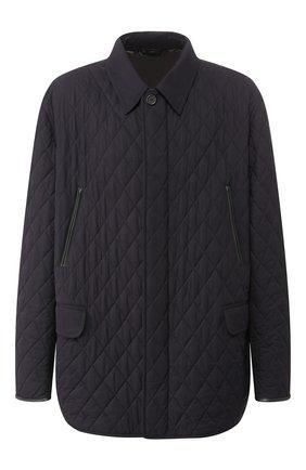 Мужская шелковая куртка BRIONI синего цвета, арт. SFNF0L/P843X | Фото 1