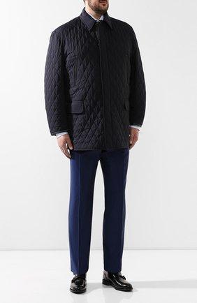 Мужская шелковая куртка BRIONI синего цвета, арт. SFNF0L/P843X | Фото 2