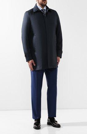 Мужской плащ из смеси шерсти и шелка MOORER синего цвета, арт. VITT0R-G0 | Фото 2