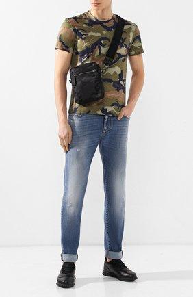 Текстильная сумка-планшет Valentino Garavani Jacquard Camouflage | Фото №2