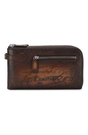 Мужская кожаный футляр для документов BERLUTI коричневого цвета, арт. N135270 | Фото 1