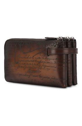 Мужская кожаный футляр для документов BERLUTI коричневого цвета, арт. N135270 | Фото 2