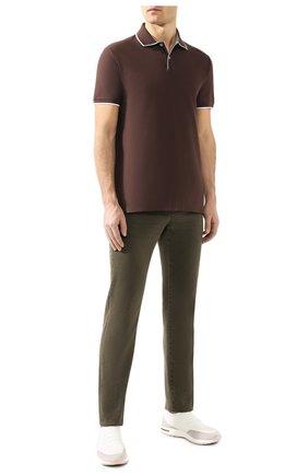 Мужское хлопковое поло  LORO PIANA коричневого цвета, арт. FAI4903 | Фото 2
