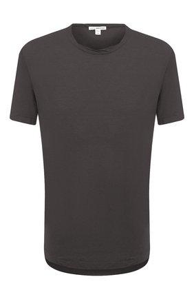 Мужская хлопковая футболка JAMES PERSE серого цвета, арт. MKJ3360 | Фото 1
