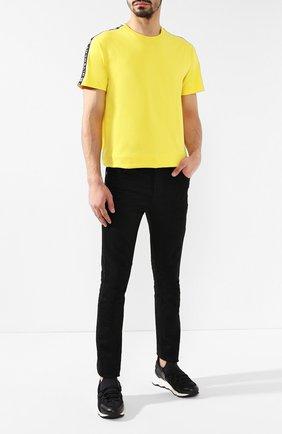 Мужские кожаные кроссовки PIERRE HARDY черного цвета, арт. LX01X/NE0PRENE/CALF | Фото 2