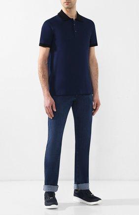 Мужские джинсы прямого кроя ZILLI синего цвета, арт. MCR-00035-EUDE1/S001 | Фото 2