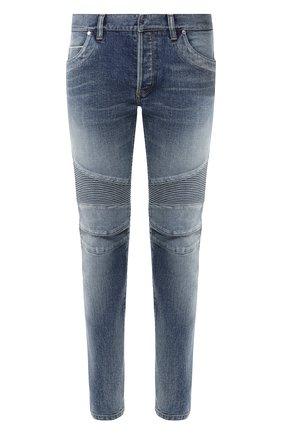 Мужские джинсы  BALMAIN синего цвета, арт. RH05258/Z101 | Фото 1