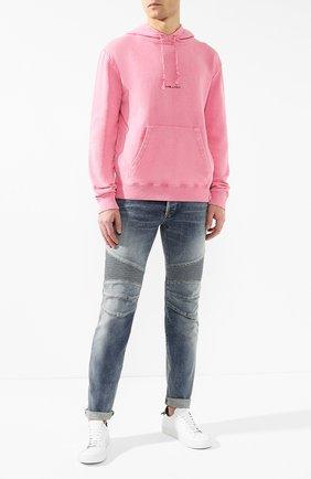 Мужские джинсы  BALMAIN синего цвета, арт. RH05258/Z101 | Фото 2