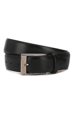 Мужской кожаный ремень PAL ZILERI черного цвета, арт. 0300G501---54625 | Фото 1