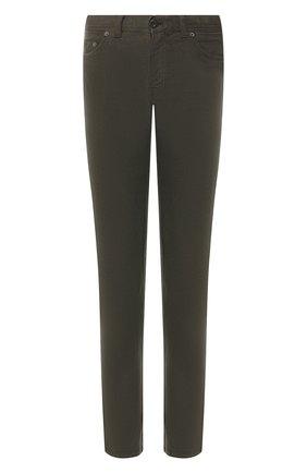 Мужские джинсы прямого кроя BRIONI хаки цвета, арт. SPL40N/07T01/MERIBEL | Фото 1