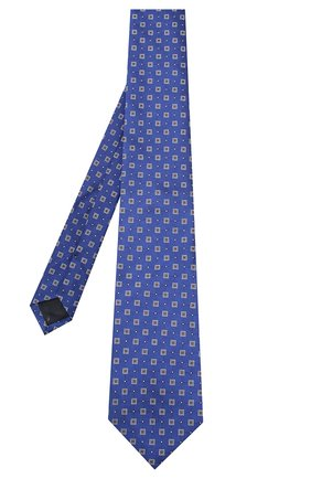 Мужской шелковый галстук CORNELIANI темно-синего цвета, арт. 83U302-9120407/00   Фото 2