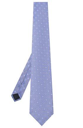 Мужской шелковый галстук CORNELIANI голубого цвета, арт. 83U302-9120330/00   Фото 2