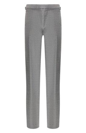 Мужской шерстяные брюки TOM FORD светло-серого цвета, арт. 522R03/610043 | Фото 1