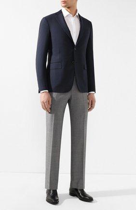 Мужской шерстяные брюки TOM FORD светло-серого цвета, арт. 522R03/610043 | Фото 2