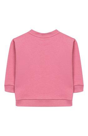 Детский хлопковый свитшот GUCCI розового цвета, арт. 518781/X9W08 | Фото 2