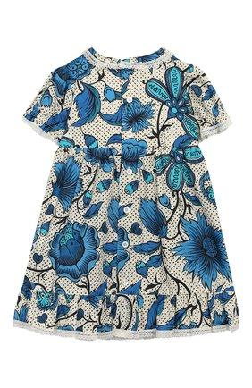 Женский хлопковое платье GUCCI синего цвета, арт. 551891/ZAAVK | Фото 2