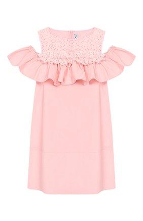 Детское хлопковое платье SIMONETTA розового цвета, арт. 1K1082/KA010/10-14+ | Фото 1
