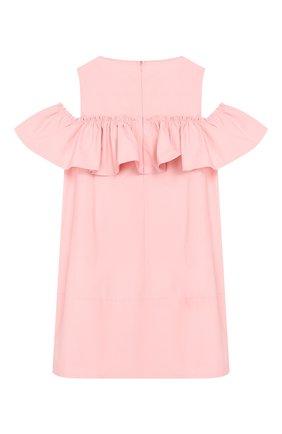 Детское хлопковое платье SIMONETTA розового цвета, арт. 1K1082/KA010/5-8 | Фото 2