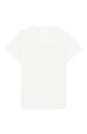 Детская хлопковая футболка MONCLER ENFANT белого цвета, арт. E1-954-80251-50-83907/8-10A | Фото 2