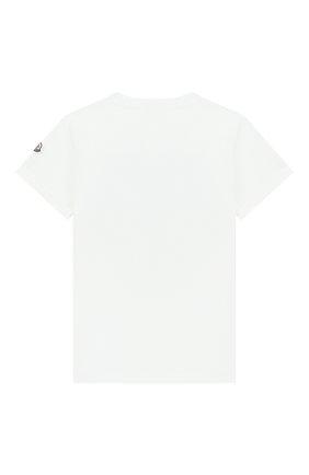 Детская хлопковая футболка MONCLER ENFANT белого цвета, арт. E1-954-80251-50-83907/4-6A | Фото 2