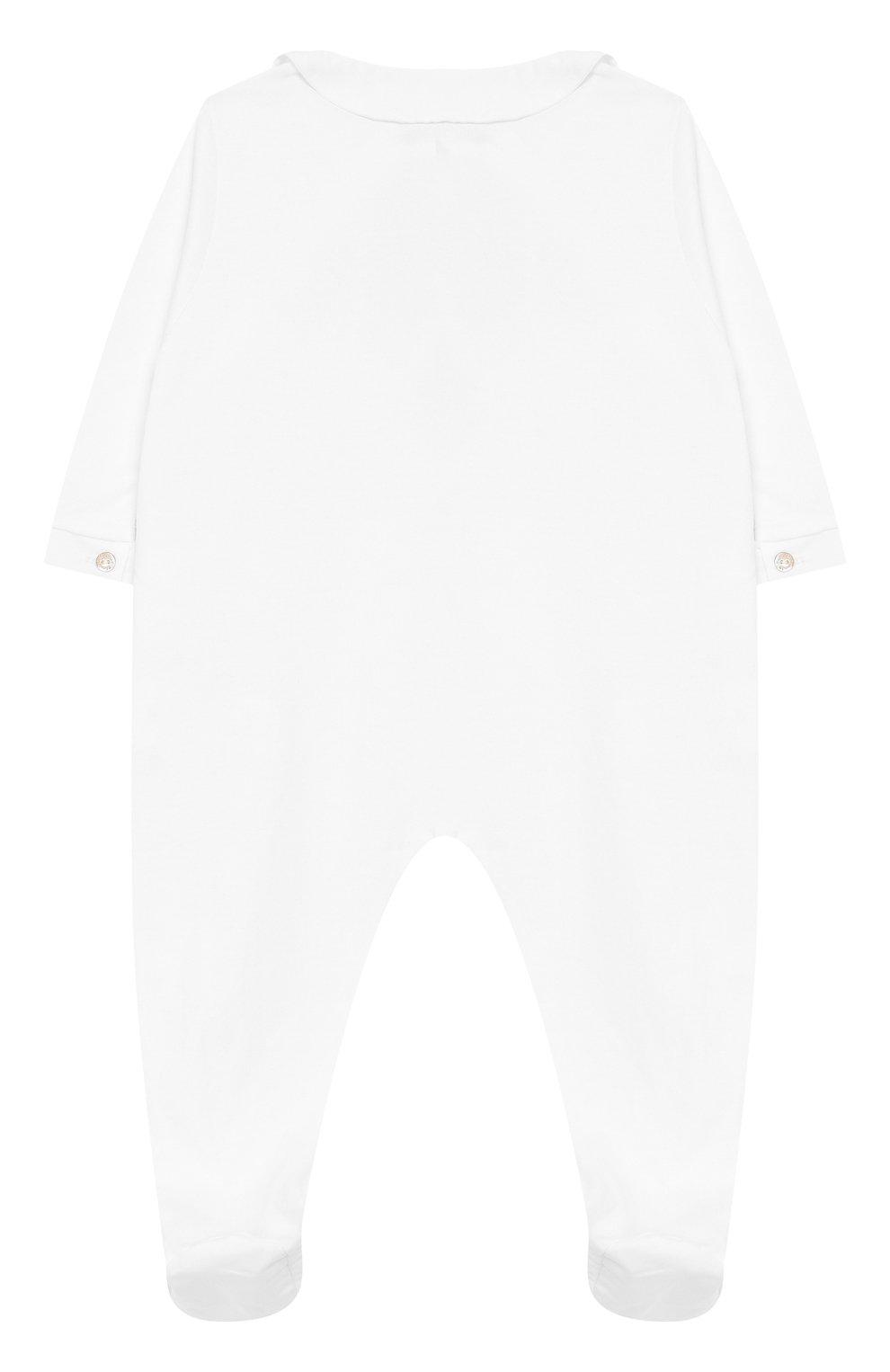 Детский хлопковый комбинезон TARTINE ET CHOCOLAT белого цвета, арт. TN54021 | Фото 2