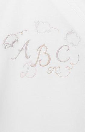Детский хлопковый комбинезон TARTINE ET CHOCOLAT белого цвета, арт. TN54021 | Фото 3