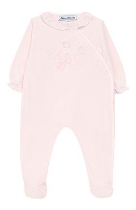 Детский хлопковый комбинезон TARTINE ET CHOCOLAT розового цвета, арт. TN54021 | Фото 1