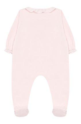 Детский хлопковый комбинезон TARTINE ET CHOCOLAT розового цвета, арт. TN54021 | Фото 2