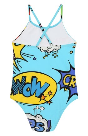 Детского слитный купальник DOLCE & GABBANA голубого цвета, арт. L2J803/FSG04 | Фото 2