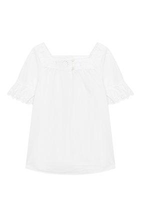 Детский хлопковый топ POLO RALPH LAUREN белого цвета, арт. 311736023 | Фото 1